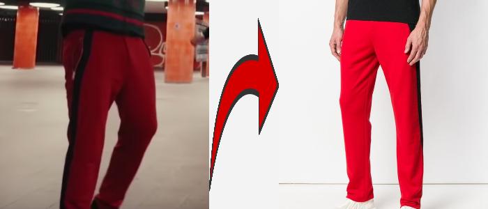 Samra Wir Ticken rote Jogginghose